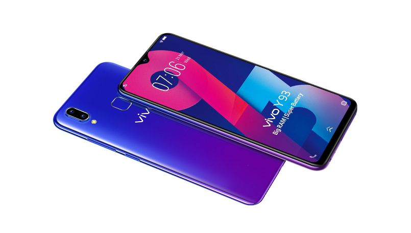 Vivo Y93 launched in India with Waterdrop Notch, Helio P22 SoC