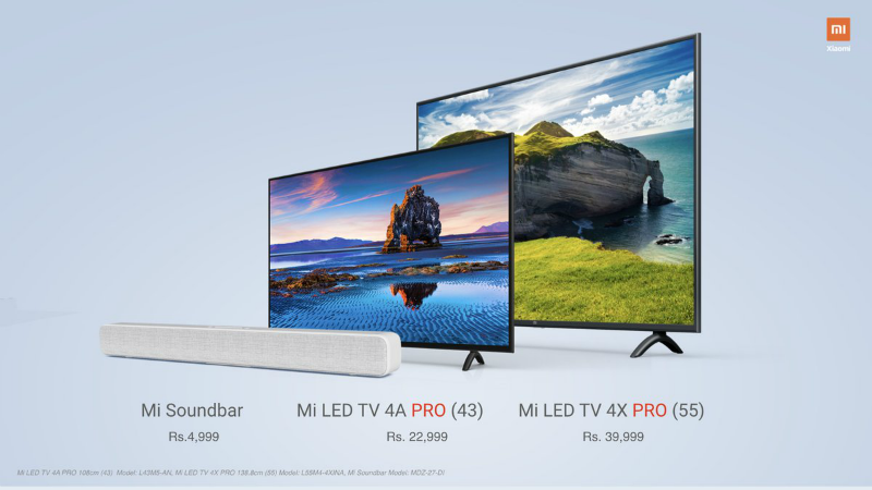 Xiaomi launches Mi TV 4X Pro 43-inch and 55-inch variants in India