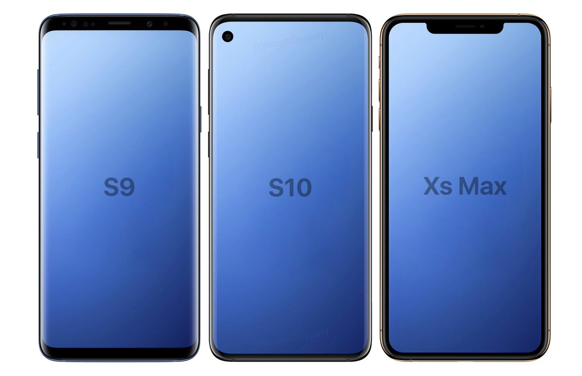 Samsung Galaxy S10e leaked render show narrow bezels and Infinity-O display