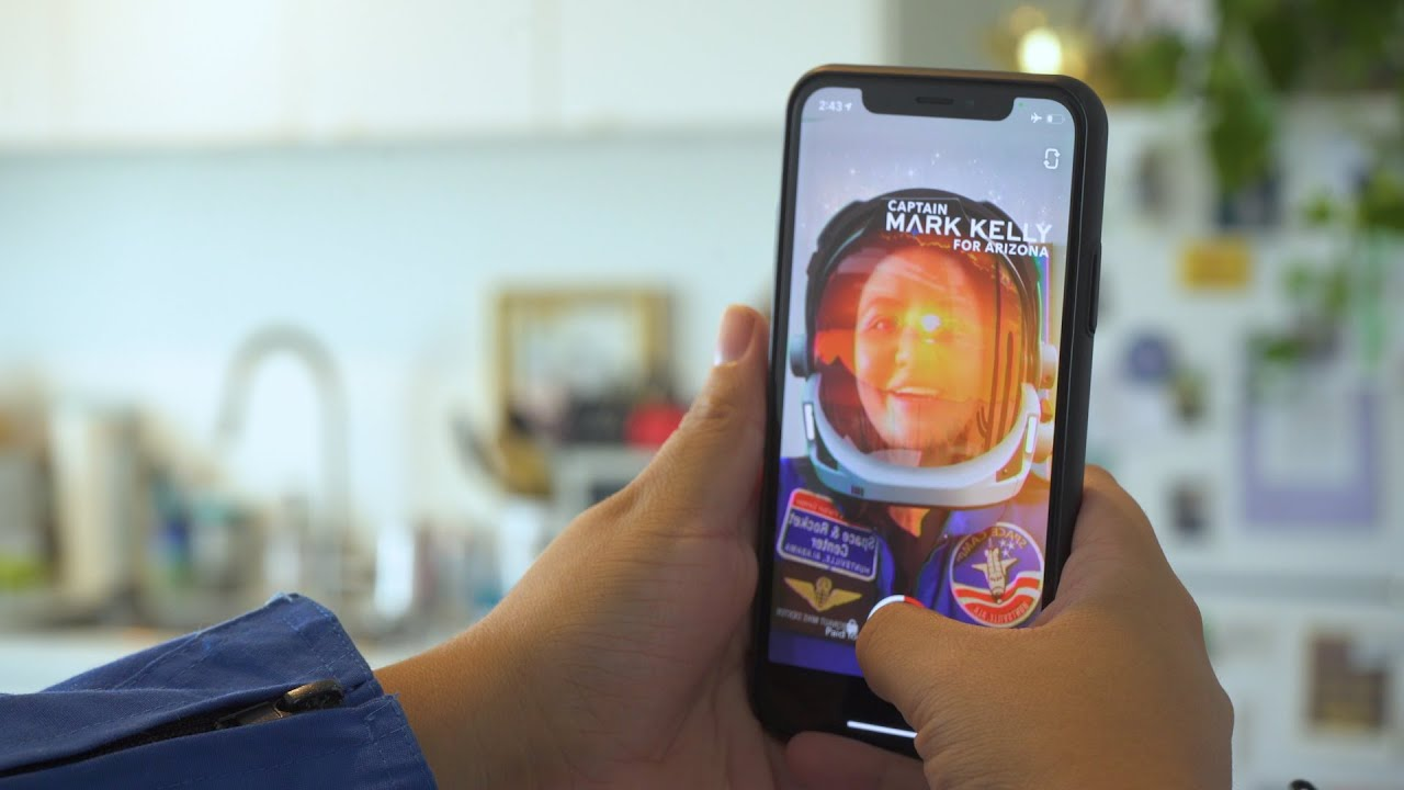 Democratic candidate Mark Kelly launches Snapchat AR lens campaign