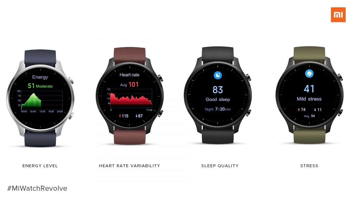 Mi Watch Revolve comes with a 14 day battery life on average usage
