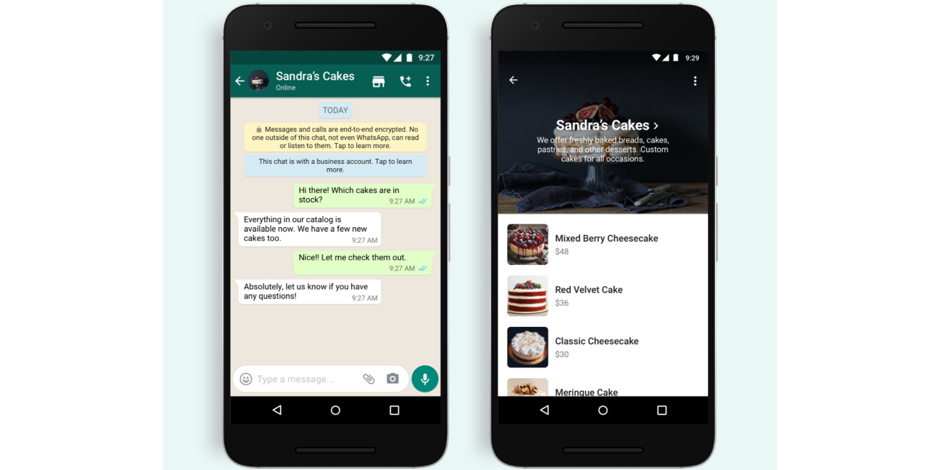 WhatsApp is rolling out a shopping button