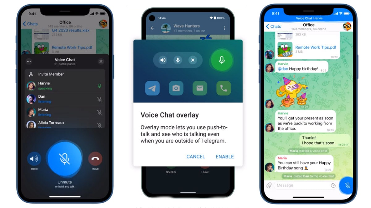 Telegram introduces group video chats that resemble Discord room