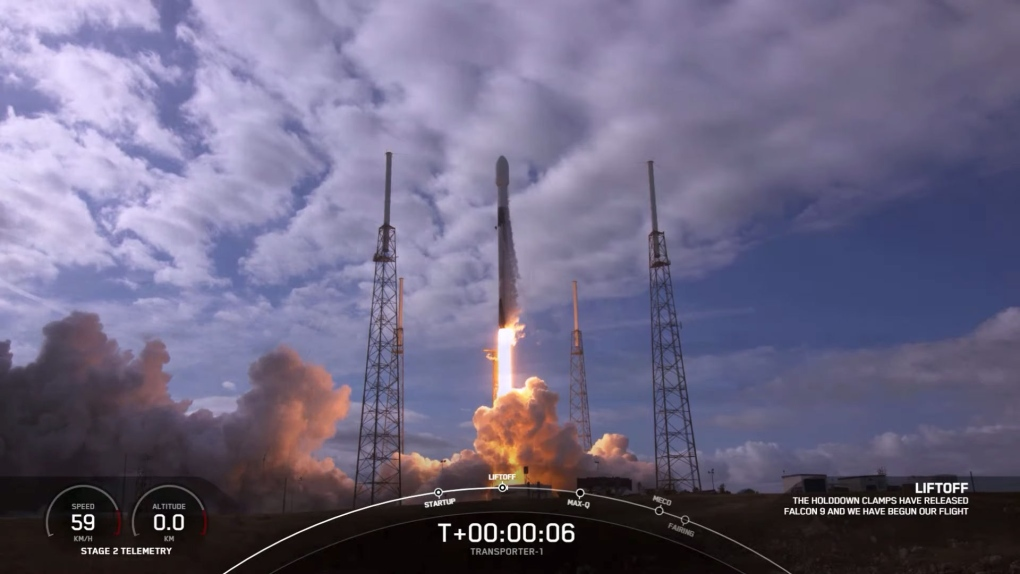 SpaceX launches 143 spacecraft breaking the record for most number of spacecraft at launch