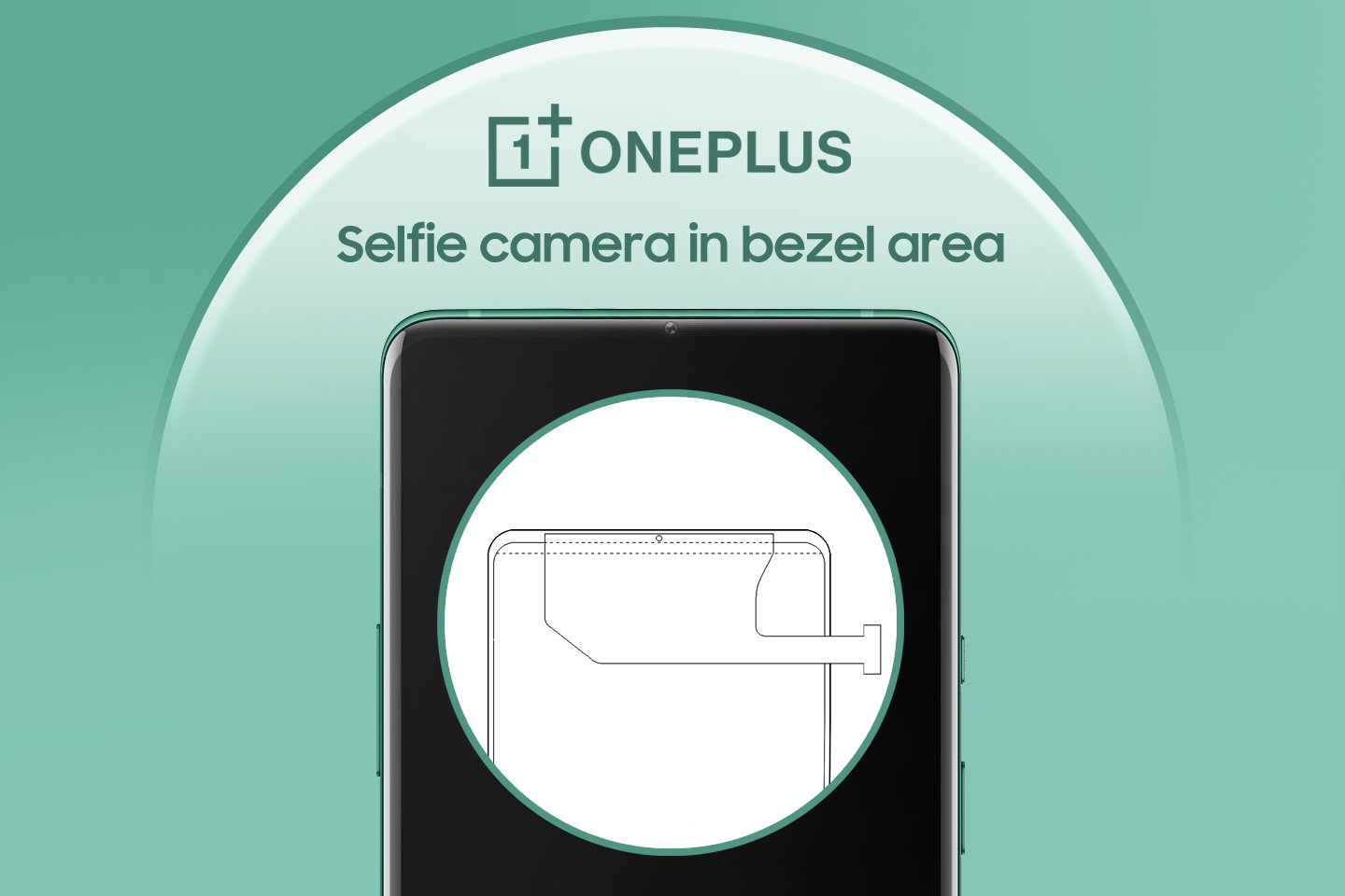 OnePlus patents a smartphone design with WIPO describing a bezel selfie camera