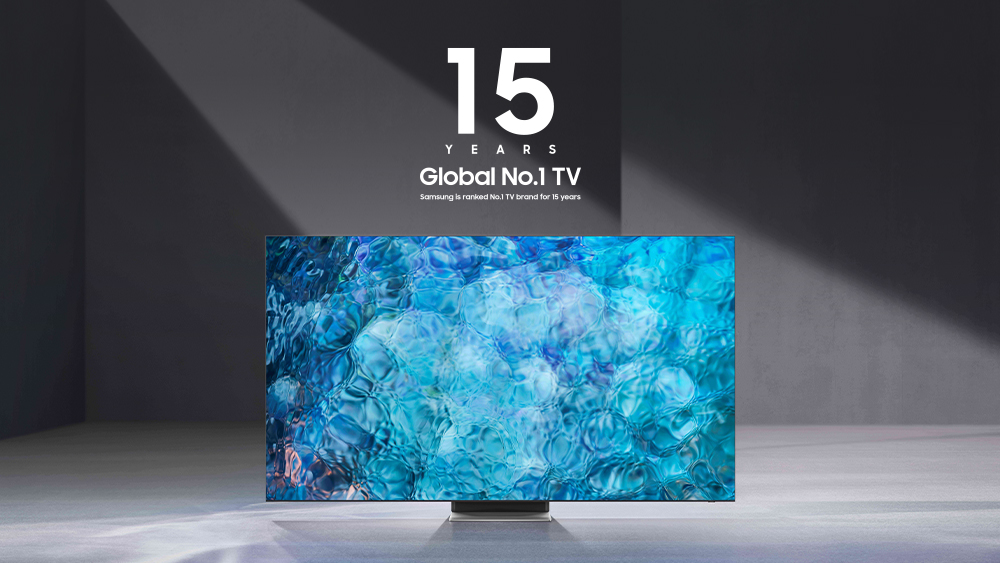 Samsung had the highest market share in the Global TV segment for the 15th consecutive year