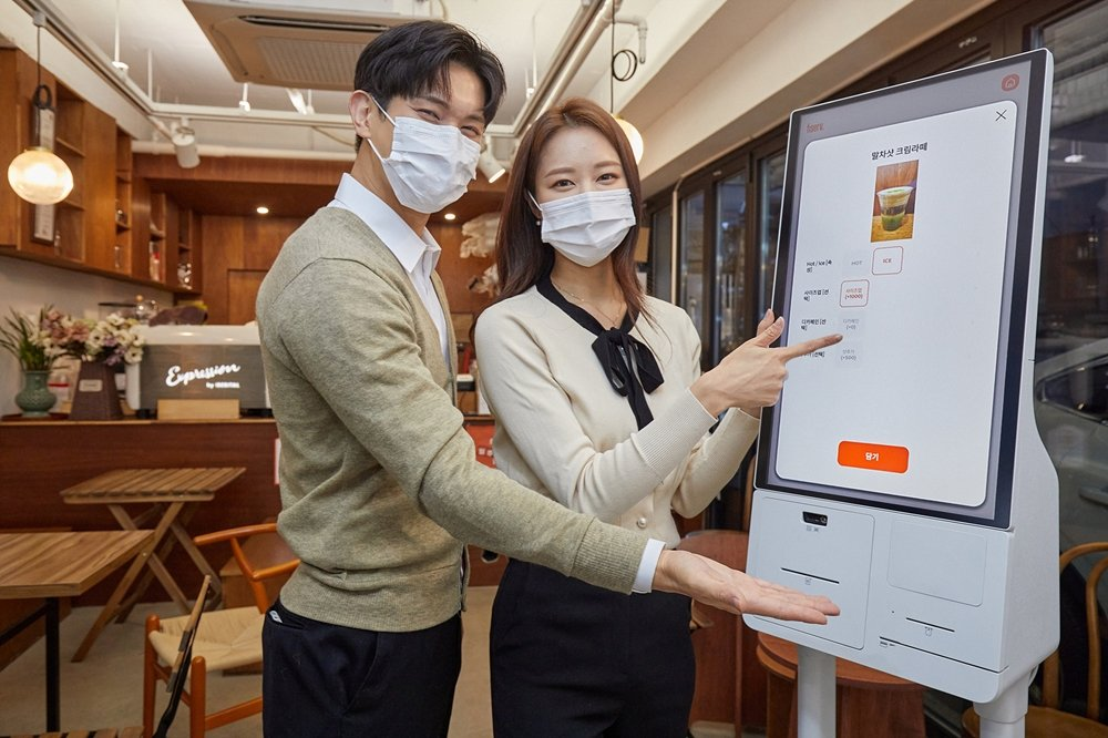 Samsung launches a self-service kiosk with built-in payment system in Korea