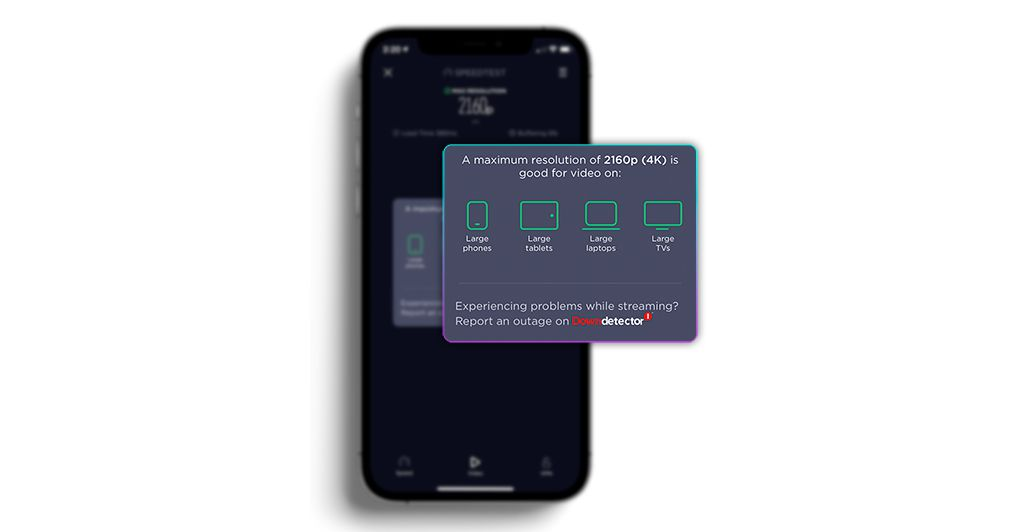 SpeedTest latest iOS app can measure your internet video streaming capability